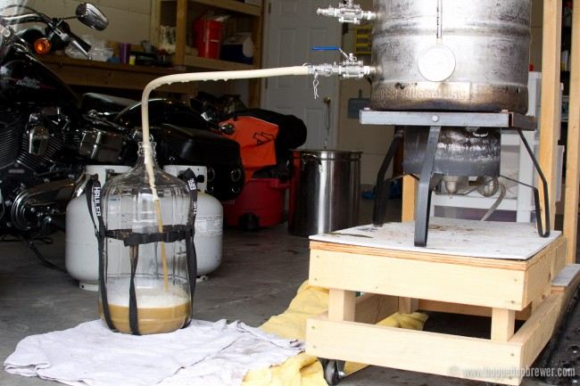 Running off the finished wort
